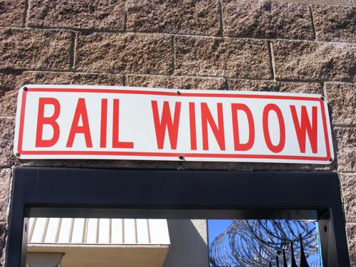 Inmate Search Las Vegas - Bail Window Sign Las Vegas Detention Center