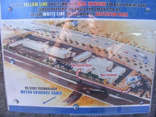 Map of Las Vegas Detention and Enforcement Center